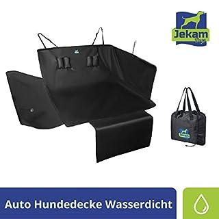 Jekam Hochwertiger Kofferraum-Schutz Hund mit Stoßstangenschutz-wasserdicht mit praktischer Transporttasche-strapazierfähige Kofferraumschondecke mit Seitenschutz für Kombi SUV Van