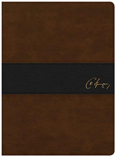 KJV Spurgeon Study Bible, Brown/Black Leathertouch por Alistair Begg