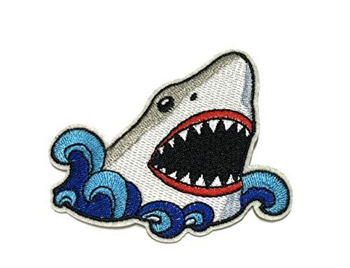 Aufnäher/Aufbügler/Aufbügler/Aufbügler/Aufnäher, Motiv: großer weißer Hai/Meg/Megalodon Aquarium Zoo -