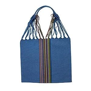 Einkaufstasche Boho Palmira 'hellblau'; Handgewebt, Handtasche, HANDARBEIT, Tasche, Geschenkidee für Frauen