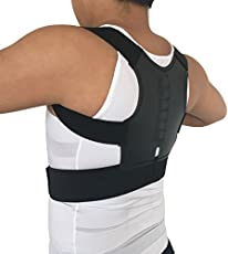 Veena Magnetic Posture Corrector Men Orthopedic Back Support Belt Correct Posture Brace Correcteur De Posture 12 Magnets Xl Xxl B001 Black Xl