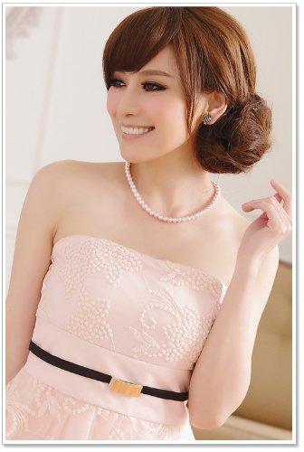 VIP Dress Abito da sera in rosa pallido, nero e beige Rosa