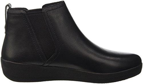 FitFlop Superchelsea Tm Boot, Scarpe a Collo Alto Donna Nero (Black)