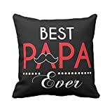 Birthday Gifts for Father, Best Papa Ever Cushions for Dad 16x16 inches by TheYaYaCafe