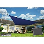 Kookaburra Wasserfest Sonnensegel 6,0m x 4,2m Rechtwinkliges Dreieck Blau