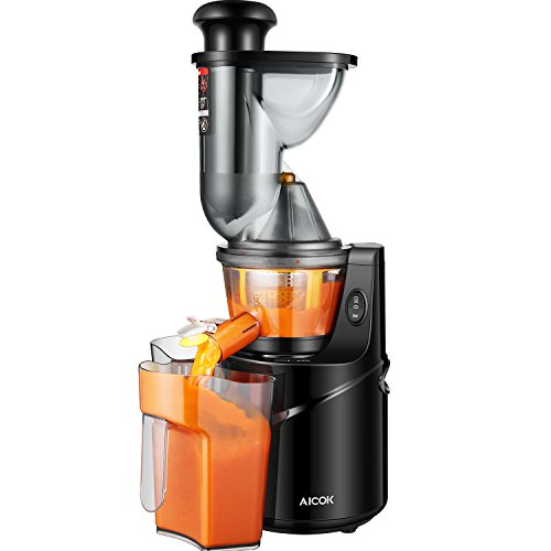 Masticating Juicer Slow Juicer, Aicok Cold Press Juicer with 75MM Big Mouth Juicers Whole Fruit and Vegetable, Quiet Motor and High Nutrient for Fruit and Vegetable Juicer