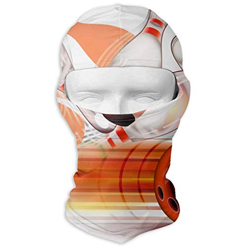 Xdevrbk Bowling Ball Transparent Shining Windproof Dust Protection Balaclava Full Face Mask Hood Headcover