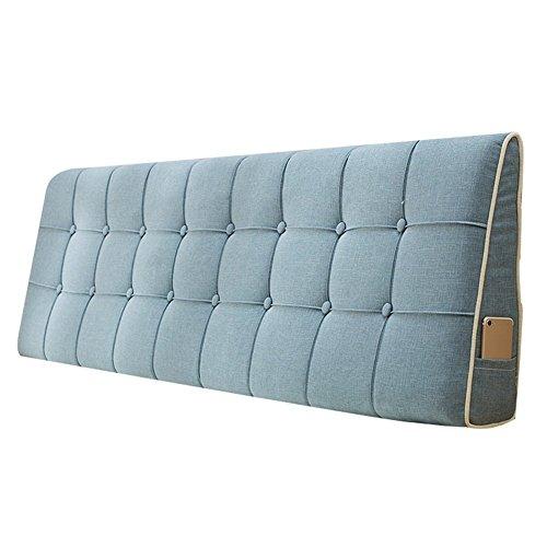 WENZHE Kopfteil Kissen Bett Rückenkissen Rückenlehne Stoff Kissen Softcase Waschbar Einfach zu säubern Atmungsaktiv Nicht deformiert, 7 Farben (Farbe : 2#, größe : 180x50cm)