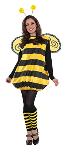 Themen England Kostüm Party - amscan 841875-55 Damenkostüm Süße Biene, schwarz/gelb, M/L