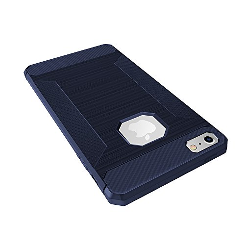 Etui iPhone 5C, KATUMO Coque Apple iPhone 5C Silicone Etui Bumper Coque de iPhone5C Protection Case Cover-Gris 1 Bleu