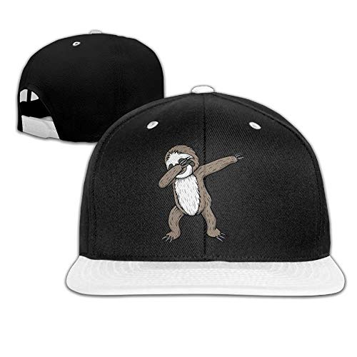 Neutrales Mode-Faultier, das die Hip-Hop-Baseballmütze mit Schnalle betupft