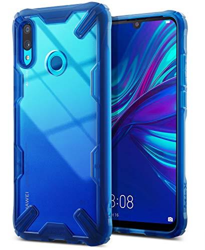 Caso Ringke Fusion-X Compatível com Huawei P Inteligente 2019, Proteção de Cabeça de Cilindro [Defesa Militar] para Amortecedor Traseiro TPU Resistente a Choques Capa de Proteção P Smart 2019 - Espaço Azul