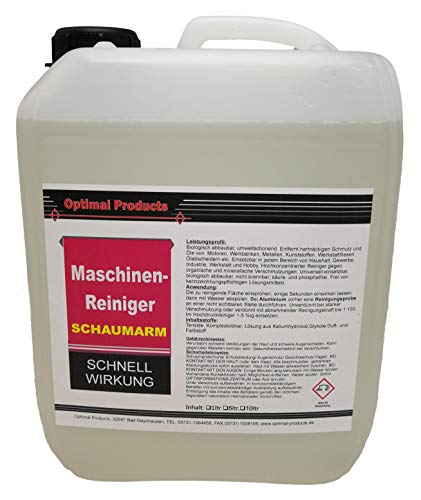 Optimal Maschinenreiniger Reiniger Schaumarm auch für Säuberungsmaschinen 5 Liter Konzentrat