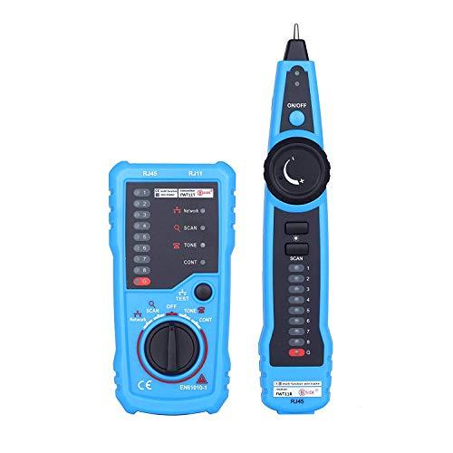 Cat5 Netzwerk Tester (GZCRDZ FWT11 Hochwertiges RJ11 RJ45 Cat5 Cat6 Telefonkabel-Tracker Tracer Toner Ethernet LAN Netzwerk Kabel Tester Leitungsfinder, blau)