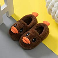 Toddler Baby Boys Girls House Slippers Cute Duck Cartoon Soft Anti-Slip Warm Shoes Children