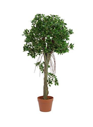 Deko Ficuskugelbaum im Topf, 100 cm, Ø 50 cm, wetterfest - Künstlicher Ficus / Künstliche Zimmerpflanze - artplants