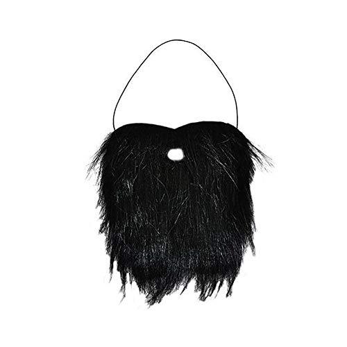 Der Mensch falscher Bart Schwarz Schnurrbart Bushy Lustige Bart für Halloween Partei Kostüm Bart - Lustig Kostüm Schmuck