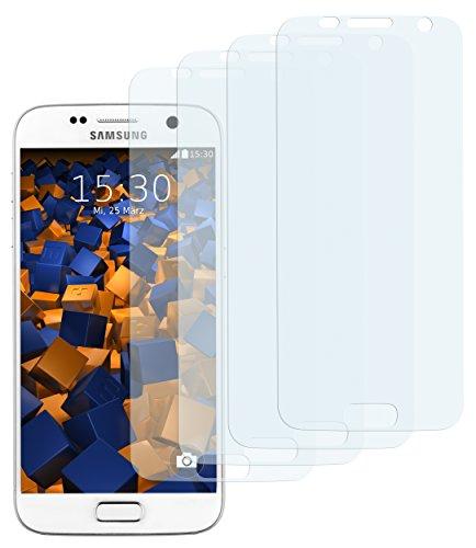 4 x mumbi Displayschutzfolie für Samsung Galaxy S7 Schutzfolie (bewusst kleiner als das Display, da dieses gewölbt ist)