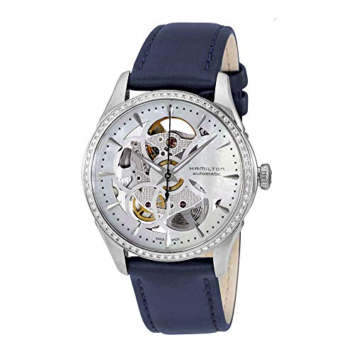 HAMILTON - Montre Femme Hamilton Jazzmaster Viewmatic Skeleton Lady Diamants h42405991 Bracelet Cuir - H42405991
