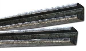 Rail de guidage acier inoxydable, pour portes coulissantes (30077)