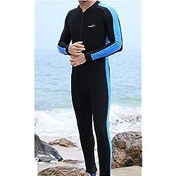 Diving Suits pour Homme Respirant Sports plongée, Natation, Surf, plongée, Waveboard Suit, One Piece, Combinaison UV Crème Solaire Plage Maillots de Bain XXXXL