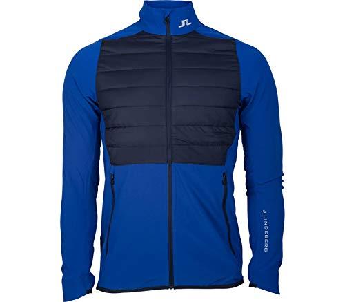 J.Lindeberg - Hybrid Herren Trainingsjacke (blau/grau) (Lacoste Full-zip)