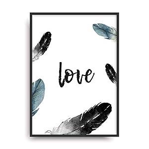 Kunstdruck Fine Art LOVE 2 moderne Vintage Poster Print Plakat Deko Bild ohne Rahmen DIN A4 Geschenk