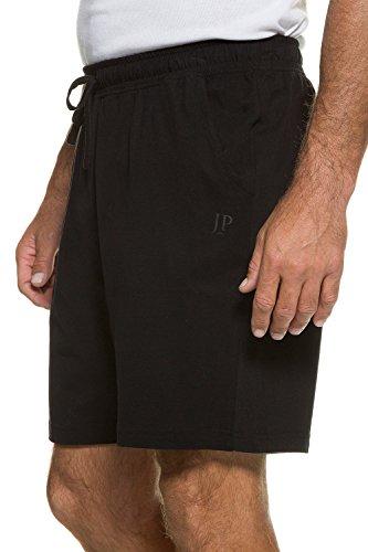 JP 1880 Herren Große Größen bis 8 XL | Kurze Pyjama Hose | Jogging-Hose aus 100% Baumwolle | Sweatpants | 2 Taschen | Schwarz L 708405 10-L (Baumwoll-hose Set)