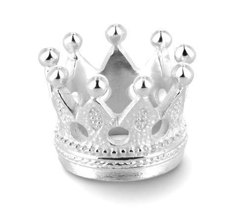 Drachenfels Luxus Damen Bandring | Kollektion Schneewittchen | Edler Kronen Ring in Echtsilber | Design-Schmuck aus 925 Sterling Silber | Gr. 60