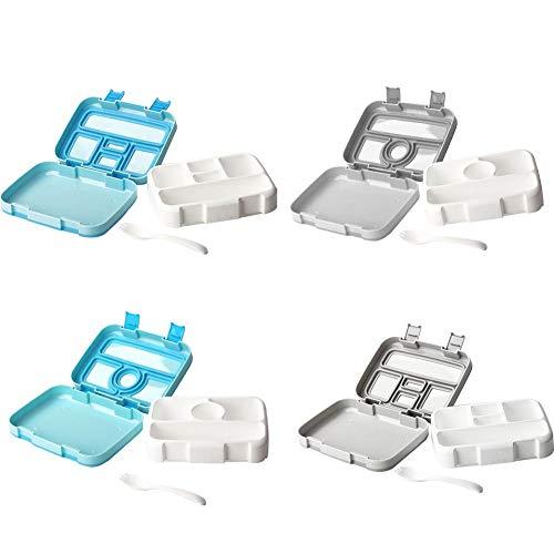 Augproveshak Kinder-Bento-Box, Brotdose mit 5 Fächern, BPA-frei, auslaufsicher, Lebensmittelbehälter für Kinder, ideal für Schulpicknicks