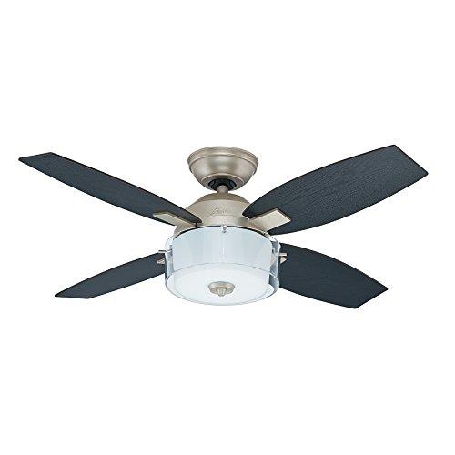 Hunter fan al mejor precio de amazon en savemoney hunter fan central park ceiling fan with light pewter revival 48 w 107 aloadofball Images