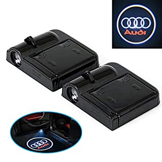 A66 2 Stück Wireless Auto Tür Licht LED Car Willkommen Projector Logo für Audi