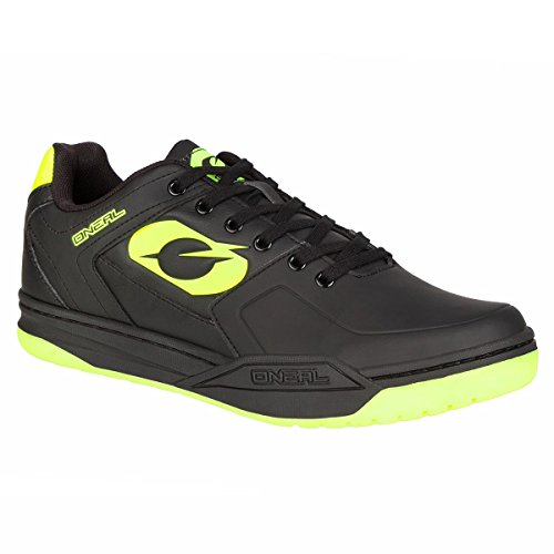 Scarpe MTB Oneal 2018 Pinned SPD Neon Giallo (EU 43/US 10, Rosso)
