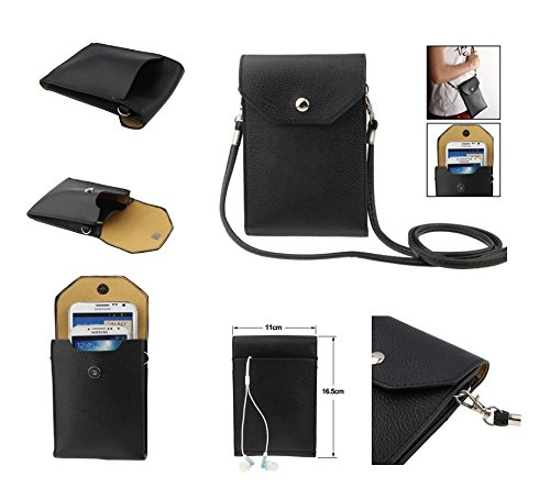 DFV mobile Universal Litchi Texture Leather Case Pocket Sleeve Bag with Lanyard for Tablet and Smartphone for => ZOPO...