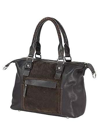 Allrounder Handbag, Genuine Leather, Stainless Quality and Design–25x 37x 16cm