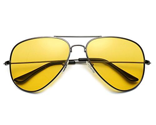 Red Peony Pilotenbrille Sonnenbrille HD Gelben Nachtsichtbrille Autofahren Polarisiert für Herren - 100{3bb879547ec1bd5b61035e3eab474fc4093cfb8af42c9fb6ccc96f79ef0bcab6} UV400 Schut (A/grau)