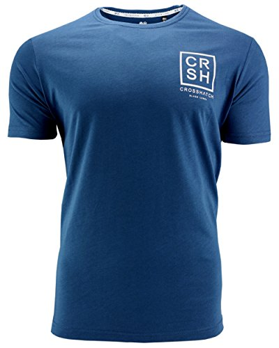 Crosshatch Herren T-Shirt Hicker mit Rückenprint Blue