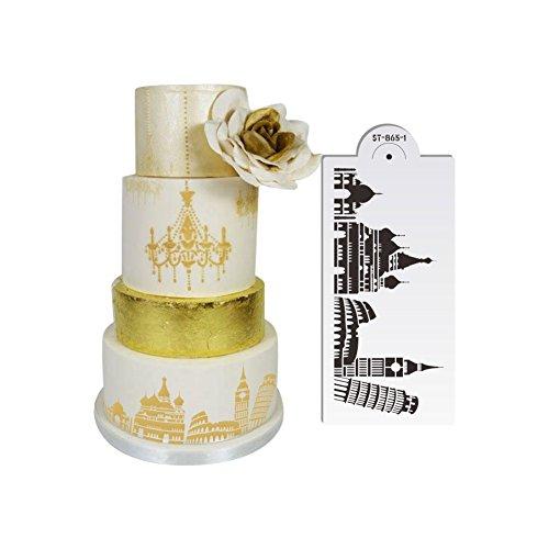 AK Art Geschirr Landmark Design Kuchen Schablonen für Royal Zuckerguss Pisa Tower Fondant...
