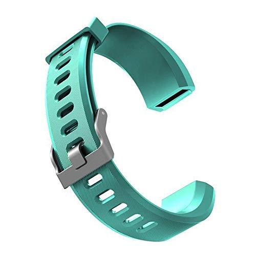 Sguan-wu Silikon Ersatz Smart Armband Band Handschlaufe für Veryfit ID115 ID115Plus - für Veryfit ID115Plus Cyan