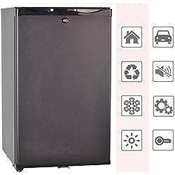 Smad Réfrigérateur Compact 12V 220V Mini Frigo à Absorption avec Serrure à Verrou 0dB sans Bruit Petit Frigo pour Voiture RV Camping 50L Noir