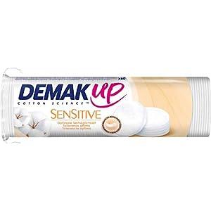 Demak'Up Sensitive Wattepads, Abschminkpads rund für empfindliche Haut, 1 x 60 Cotton Pads
