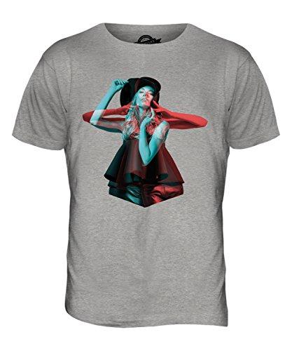 CandyMix Modell Stereoskopisch Herren T Shirt Grau Meliert