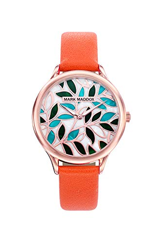 Mark Maddox Damen Analog Quarz Uhr mit Leder Armband MC6010-90