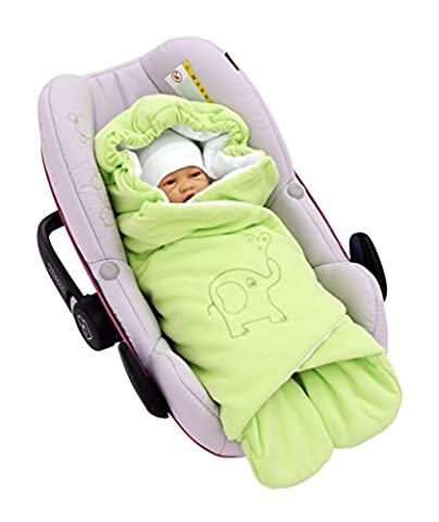 Byboom®Spring, Autumn and Summer Swaddling Blanket for All Baby Seats and Car Seats e.g. for Maxi Cosi, Römer car seats, Prams, Buggies or Baby Beds;