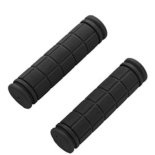 Sharplace 1 Paar Rutschfester Gummi 25mm Lenkergriff Für Fahrrad Lenker - Schwarz (Lenkergriffe Schwarz)