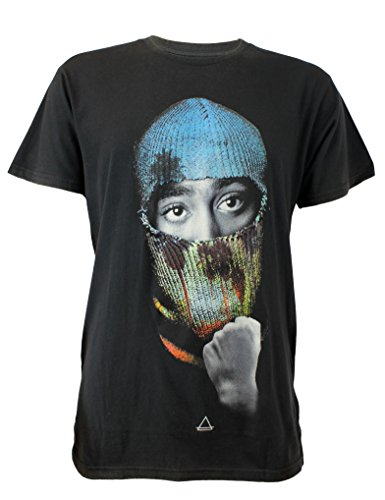 Eleven Paris CABLU M-T-shirt Uomo,    Schwarz (ACID WASH BLACK AW05) Medio (dimensione produttore: M)