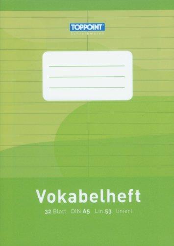 Preisvergleich Produktbild 10 Vokabelhefte liniert DIN A5 Lineatur 53