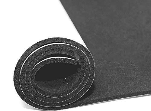 EPDM Zellkautschuk Dichtungsmatte einseitig, selbstklebend Moosgummi - Länge 0,5m / 1m / 2m - 0,5x1m / 1x1m / 2x1m - Stärke in 2/3/5 mm (1mx1mx3mm) Premium-Qualität mit Geld-zurück-Garantie