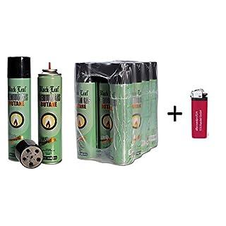 6 x 300ml reines Butangas -near zero impurities- Feuerzeuggas Nachfüllgas Feuerzeug ( 8,88 € p. 1 Liter) + 1 Feuerzeug