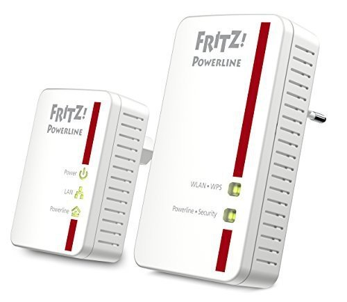 AVM FRITZ!Powerline 540E / 510E WLAN Set  (500 MBit/s, WLAN-Access Point, Fast-Ethernet-LAN), deutschsprachige Version